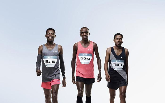 Lelisa Desisa, Eliud Kipchoge and Zersenay Tadese. Picture: nike.com
