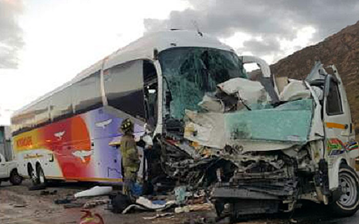 At least eight people were killed in an accident on 24 Decembers 2016 on the N1 highway near Worcester. Picture: Supplied.