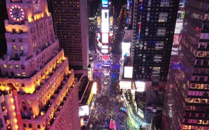 file: New York City a few hours before the ball dropped to usher in 2014. Picture: @AnthonyQuintano via Twitter
