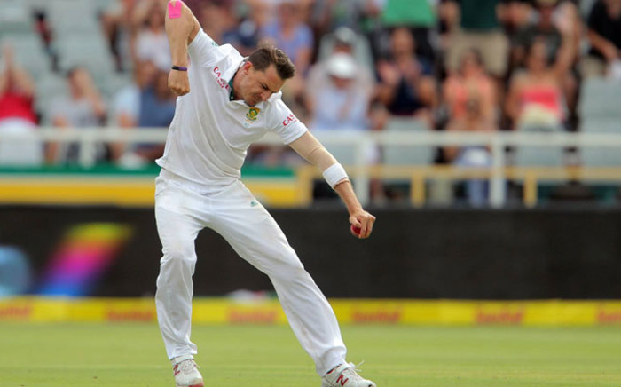 South Africa's fast bowler, Dale Steyn celebrates after taking a wicket against West Indies. Picture: Cricket South Africa official Facebook page.