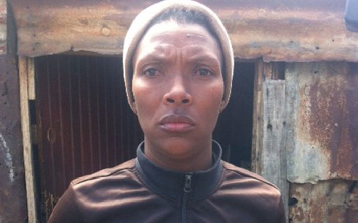 Monica Skafu, the mother of two-month-old Azile Skafu who disappeared from his parents' home during the early hours of Friday morning. Picture: Carmel Loggenberg/EWN.