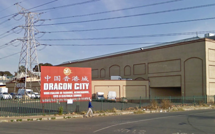 EWN has received reports from foreign shop owners at the Dragon City shopping complex who claim they are being pulled over and robbed of their daily earnings every day while driving home. Picture: Google Earth.