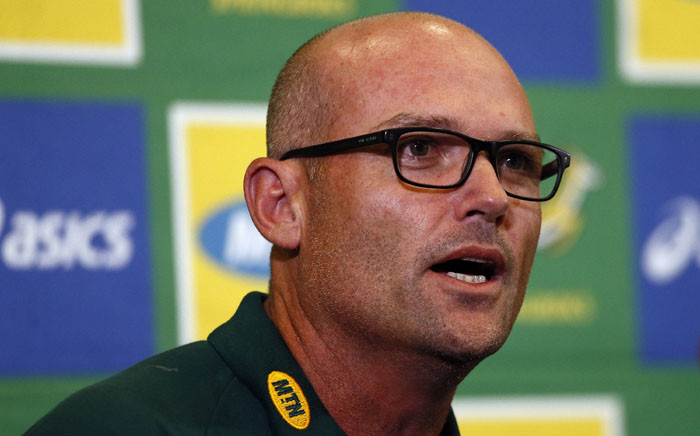 FILE: Jacques Nienaber at a press conference following his announcement as the Springboks head coach in Pretoria on 24 January 2020. Picture: Phill Magakoe/AFP
