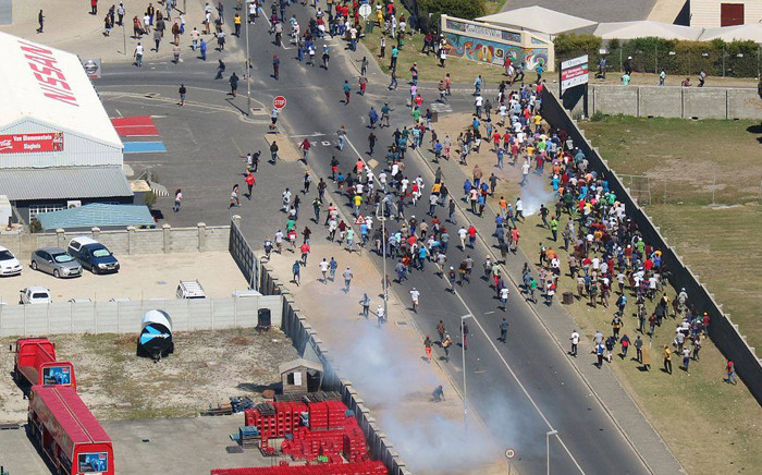 Residents of Zwelihle near Hermanus protest on Monday 26 March 2018. Picture: Twitter/@HermanusOnline