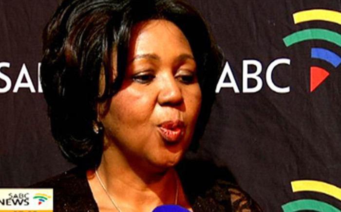 The South African Broadcasting Corporation's chairperson Ellan Zandile Tshabalala. Picture: SABC.