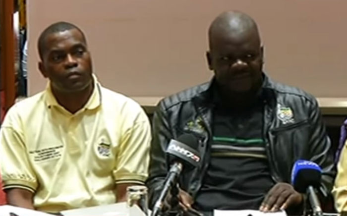 Members of the ANC and SACP hold a briefing calling for President Jacob Zuma to step down as head of state.