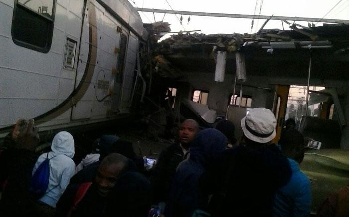 Train commuters in Germiston, PTA & Tembisa are stranded because of a train accident that happened in Elandsfontein. Picture: Twitter @EWNTraffic