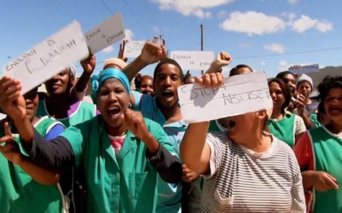 Women protest against gender based violence. Picture: EWN