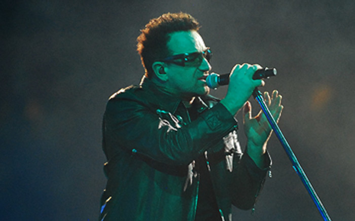 U2's Bono during the band's 360° Tour concert at FNB Stadium on Sunday February 13 2011. Picture: Taurai Maduna/ Eyewitness News.