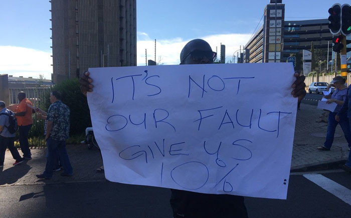 FILE: Striking SABC workers want a 10% salary increase. Picture: Mia Lindeque/EWN