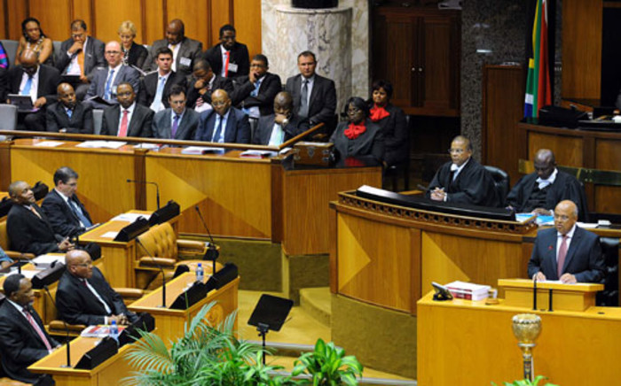 Finance Minister Pravin Gordhan delivering his 2013 Budget Speech in Parliament on 27 February 2013. Picture: GCIS.