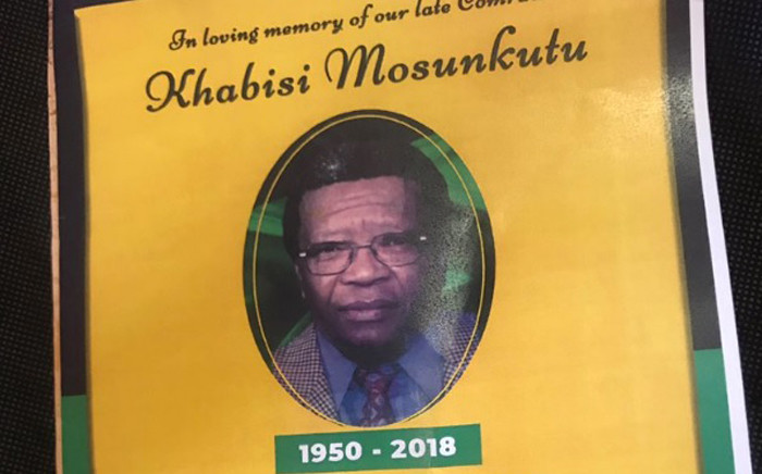 A memorial service was held in Pimville, Soweto, for the late ANC stalwart Khabisi Mosunkutu on 28 December 2018. Picture: Bonga Dlulane/EWN.