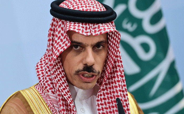 Saudi Foreign Minister Prince Faisal bin Farhan Al-Saud attends a joint press conference with the German Foreign Minister in Berlin, on 19 August 2020. Picture: AFP