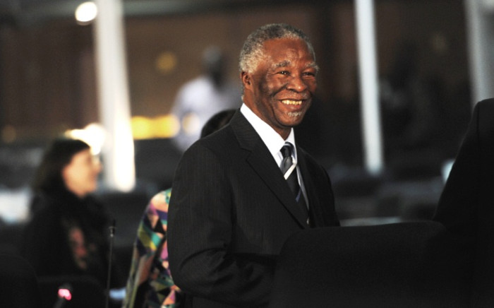 Former president Thabo Mbeki seen during a break in proceedings at the Seriti Commission of Inquiry where he was testifying in Pretoria on 17 July 2014. Picture: Sapa.