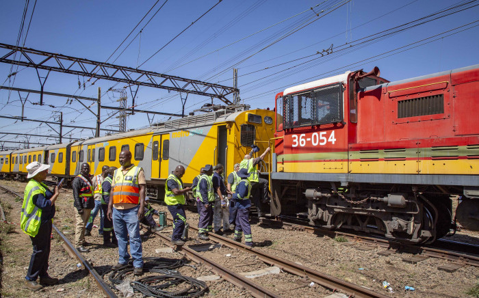 Two trains collided in downtown Johannesburg after a signalling error. More than 100 people were injured. Picture: Thomas Holder/EWN