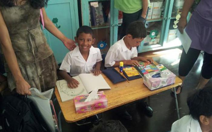 First day of school for Daniel de la Cruz. Picture: Ronald de la Cruz/iWitness