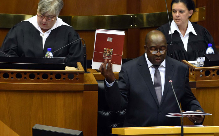 FILE. Now former Finance Minister Nhlanhla Nene in Parliament. Picture: GCIS.