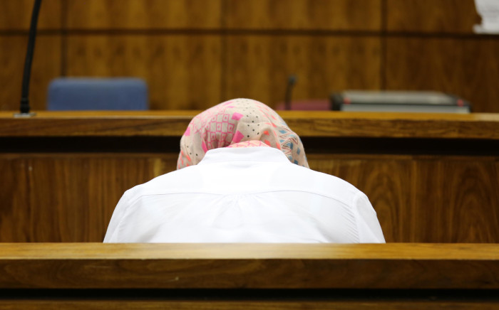 Sindisiwe Manqele sits in the dock after being found guilty of murdering her rapper boyfriend Nkululeko 'Flabba' Habedi at his Alexandra home in March. Picture: Christa Eybers/EWN