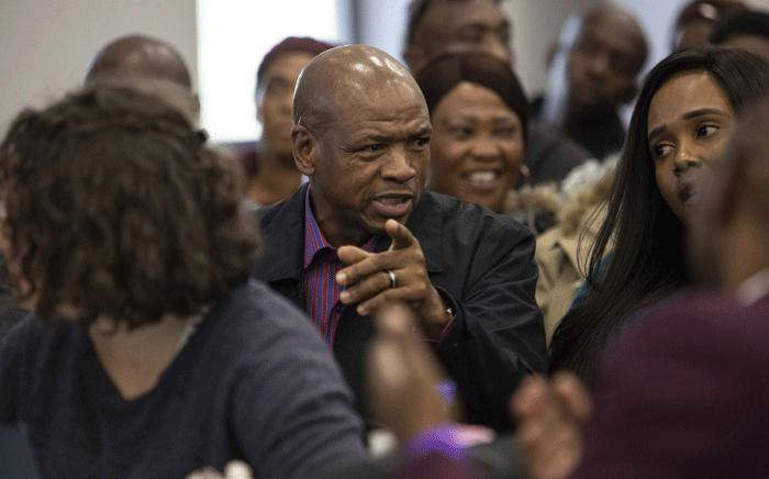 Supra Mahumapelo at the state capture commission on 19 July 2019. Picture: Abigail Javier/EWN