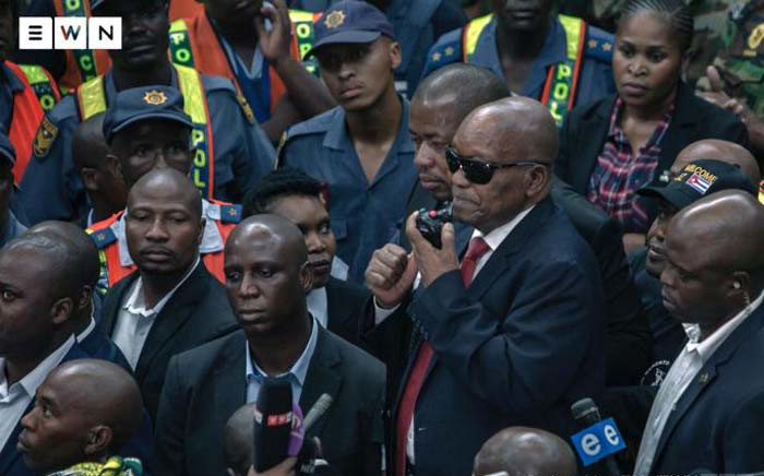 FILE: Former President Jacob Zuma arrives at OR Tambo International Airport on 22 February 2020. Picture: Sethembiso Zulu/ EWN