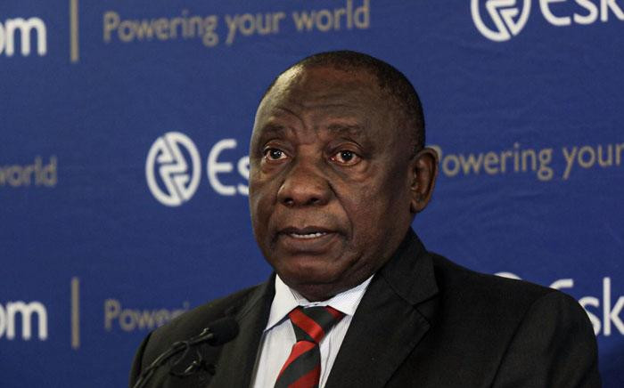 FILE: President Cyril Ramaphosa addressing a media briefing  at Megawatt Park, Johannesburg. Picture: Kayleen Morgan/EWN