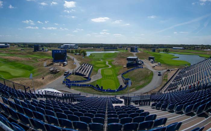 A general view of the golf course where the world's best golfers from Europe and the US will be competing for the Ryder Cup trophy. Picture: @rydercup/Twitter