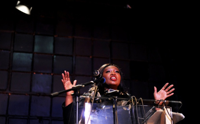 Generations actress Sophie Ndaba speaks about the latest developments in the salary impasse with the SABC at a press conference held by the Generations Actors' Guild in Johannesburg on Tuesday, 26 August 2014. Picture: Sapa.