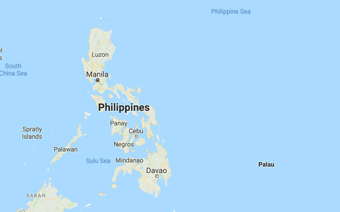 A screengrab of a map showing the central Philippine islands. Picture: Google Maps.