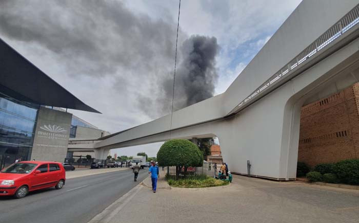 MultiChoice evacuated one of its Randburg buildings after a fire on 15 October 2019. Picture: Supplied.