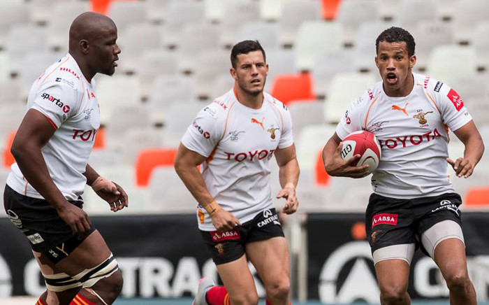 Free State Cheetahs' players in action against Sharks in the Currie Cup. Picture: FS Cheetahs Facebook page.