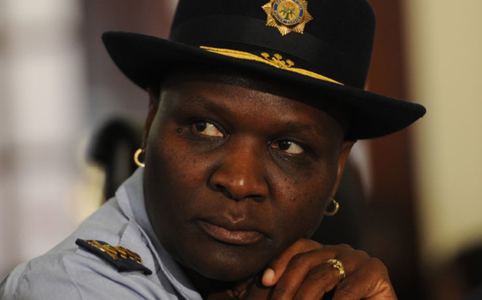 National police commissioner Riah Phiyega speaks at the release of the 2013/2014 annual crime statistics in Pretoria on 19 September 2014. Picture: Sapa.