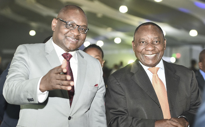 Gauteng Premier, David Makhura with Deputy President Cyril Ramaphosa at the at the closing ceremony of the Gauteng Provincial Government's Senior Management Service Conference on 30 March 2016. Picture: GCIS.