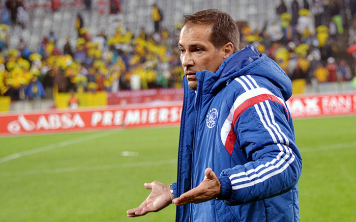 FILE: Ajax Cape Town coach Roger De Sa reacts during a game. Picture: Abed Ahmed/EWN