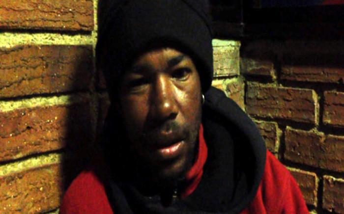 Homeless Joburg man.