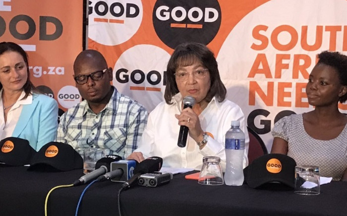 Patricia de Lille at the announcement of her new party's name. Picture: Bonga Dlulane/EWN