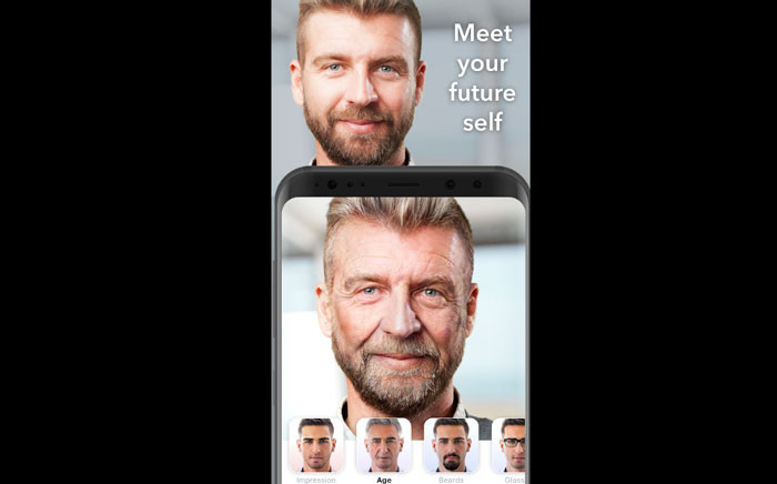 The FaceApp has a filter which allows users to see how they will look as they age. Picture: play.google.com