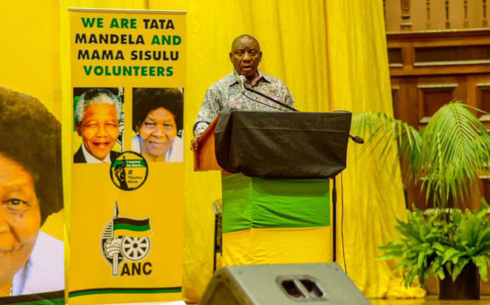 ANC president Cyril Ramaphosa addresses young professionals in Durban on 9 January 2019. Picture: @MYANC/Twitter