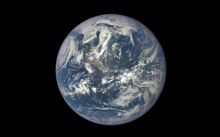 A Nasa camera on the Deep Space Climate Observatory (DSCOVR) satellite caught the first image of Earth, since the Apollo era. Picture: Supplied