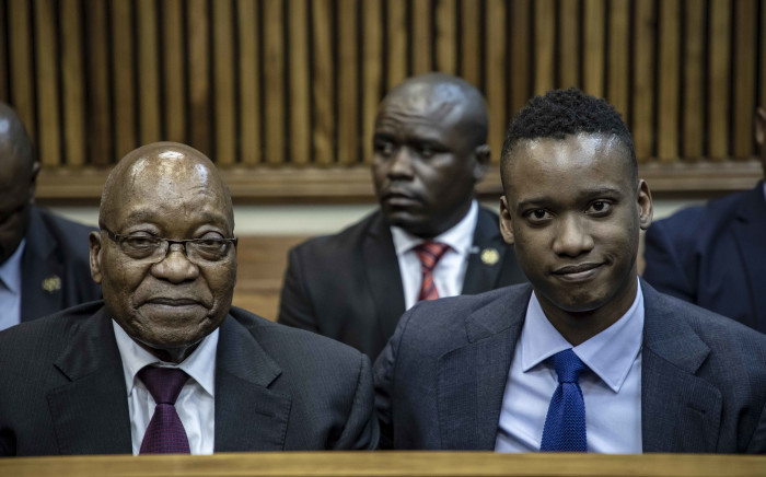 Duduzane Zuma and his father, former President Jacob Zuma, at the Randburg Magistrates Court on 24 January 2019 for a postponement of his culpable homicide case. Picture: Thomas Holder/EWN