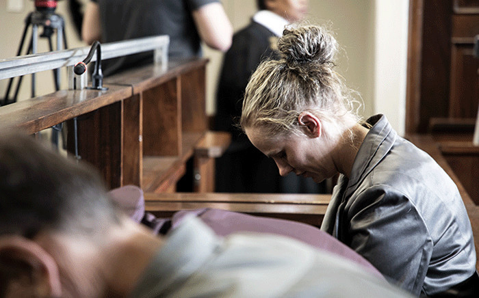 Tharina Human, one of the three people accused of kidnapping Amy'Leigh De Jager outside her school in Vanderbijlpark, in court. Picture: Xanderleigh Dookey/EWN