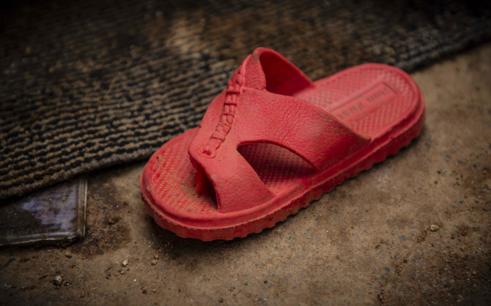 FILE: A sandal of one of the victims who was killed in their home in Vlakfontein. Picture: Abigail Javier/EWN.