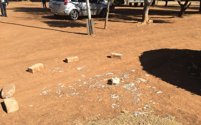 The scene outside Fred Norman Secondary School in Ennerdale where a shooting took place on 5 June 2018. A teenager was allegedly shot by his father after having extra classes. Picture: Masechaba Sefularo/EWN
