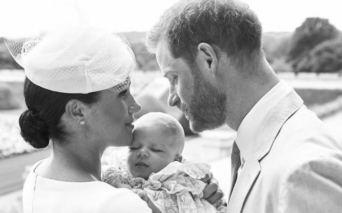 Prince Harry and Duchess Meghan with son Archie Harrison Mountbatten-Windsor. Picture: @PHarry_Meghan/Twitter.
