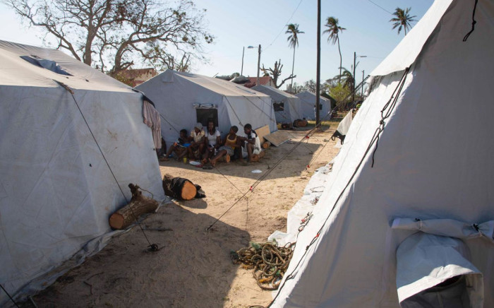 A relief camp has been set up close to the airport for victims of Cyclone Idai who have fled to Beira. Picture: Christa Eybers/EWN