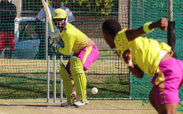 FILE: Mangaliso Mosehle in action in the nets for the Paarl Rocks. Picture: @Mosehle33/Twitter