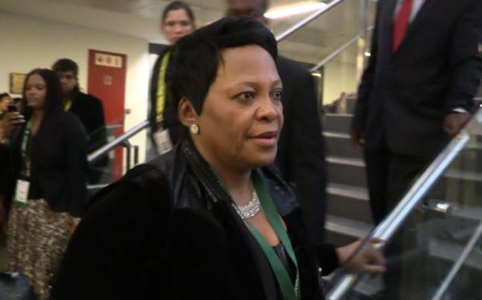 Minister of Water and Sanitation Nomvula Mokonyane. Picture: Christa Eybers/EWN.