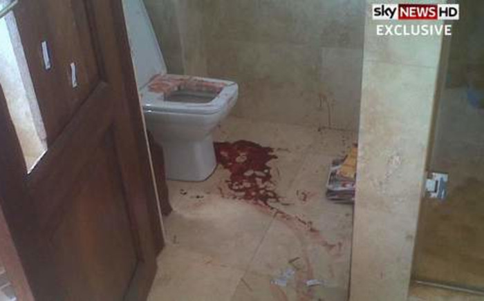 Sky News broadcast crime scene pictures taken at Oscar Pistorius's house after he shot his girlfriend Reeva Steenkamp on 14 February 2013. Picture: Courtesy of Sky News