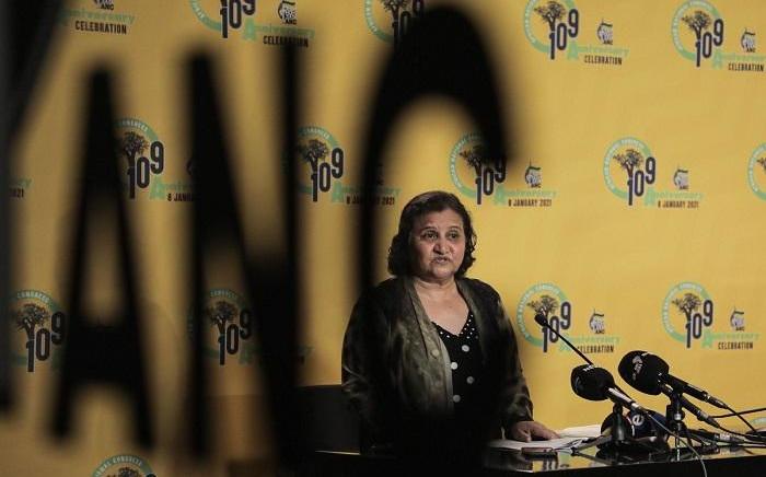 ANC deputy secretary-general Jessie Duarte briefing media on 7 September 2021. Picture: Abigail Javier/Eyewitness News.