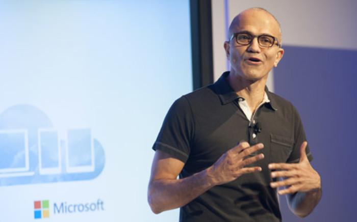 FILE: Satya Nadella, CEO of Microsoft. Picture: AFP.