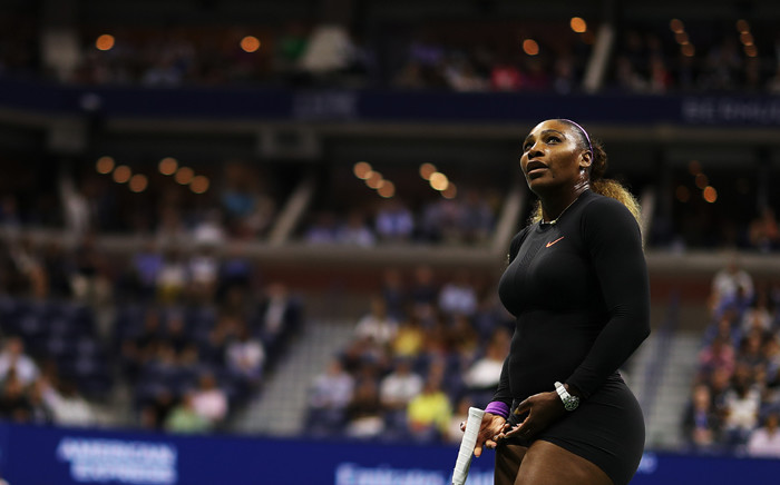 Serena Williams looks on during her Women's Singles semi-final match against Elina Svitolina of the Ukraine on day eleven of the 2019 US Open at the USTA Billie Jean King National Tennis center on day eleven of the 2019 US Open at the USTA Billie Jean King National Tennis Center at Arthur Ashe Stadium on 5 September 2019 in New York City. Picture: AFP.